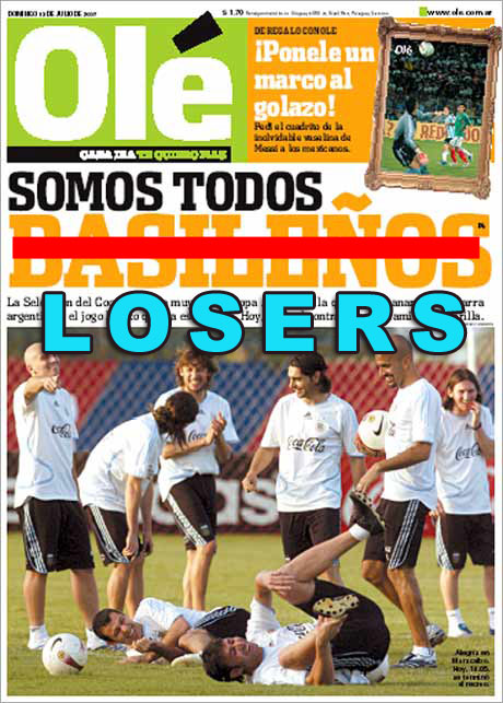 Diario Ole from Argentina from today